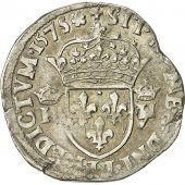 coin, France, Teston, 1575, Nantes, VF(30-35), Silver, Sombart 4654