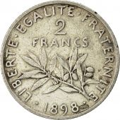 Coin, France, Semeuse, 2 Francs, 1898, Paris, AU(50-53), Silver, KM 845.1