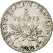 Coin, France, Semeuse, 2 Francs, 1902, Paris, EF(40-45), Silver, KM 845.1