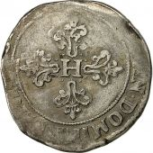 Coin, France, Henri III, Franc au Col Plat, 1576, Angers, Sombart 4714