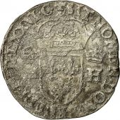 Coin, France, Henri III, Teston, 1576, Toulouse, VF(30-35), Silver, Sombart 4654