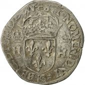 Coin, France, Henri III, Teston, 1575, Bordeaux, VF(30-35), Silver, Sombart 4646