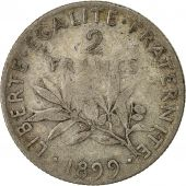 Coin, France, Semeuse, 2 Francs, 1899, Paris, VF(20-25), Silver, KM 845.1
