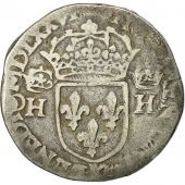 Coin, France, Henri III, Teston, 1576, Bordeaux, F(12-15), Silver, Sombart 4646