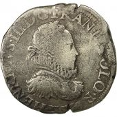 Coin, France, Henri III, Teston, 2nd type, 1575, Angers, VF(30-35), Sombart 4650