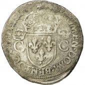 Coin, France, Charles IX, Teston, 1570, Toulouse, VF(20-25), Sombart 4602
