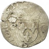 Coin, France, Henri III in name of Charles IX, Demi Teston, 1575, Sombart 4604