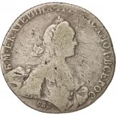 Russie, Catherine II, Rouble, 1769, Saint-Petersburg, Argent, KM:67a.2