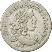 Coin, German States, BRANDENBURG, Friedrich Wilhelm, 6 Groscher, 1681, VF(30-35)