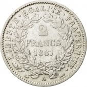 Coin, France, Cérès, 2 Francs, 1887, Paris, AU(55-58), Silver, KM:817.1