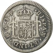 Coin, Mexico, Charles III, 1/2 Real, 1782, Mexico City, EF(40-45), Silver