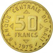 Monnaie, Mali, 50 Francs Essai, 1975, Paris, FDC, Nickel-brass, KM E1
