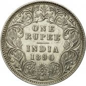 Coin, British India, Victoria, Rupee, 1890, Bombay, MS(60-62), Silver, KM 492