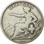 Coin, Switzerland, 2 Francs, 1863, Bern, VF(30-35), Silver, KM 10a