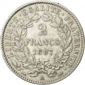 Coin, France, Cérès, 2 Francs, 1887, Paris, AU(55-58), Silver, KM 817.1
