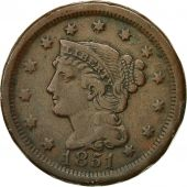 Monnaie, États-Unis, Braided Hair Cent, 1851, Philadelphie, KM 67