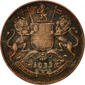 Coin, INDIA-BRITISH, 1/2 Anna, 1835, EF(40-45), Copper, KM 447.1