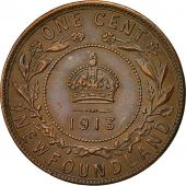 Coin, NEWFOUNDLAND, George V, Large Cent, 1913, MS(60-62), Bronze, KM 16