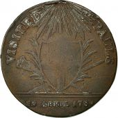 Great Britain, Token, George III visited St. Pauls, 23 April 1789, Copper