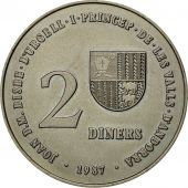 Monnaie, Andorra, 2 Diners, 1987, SPL, Copper-nickel, KM:46.1