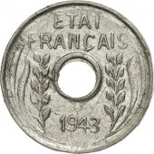 Monnaie, FRENCH INDO-CHINA, Cent, 1943, SUP, Aluminium, KM:26