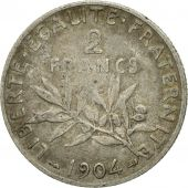 Coin, France, Semeuse, 2 Francs, 1904, Paris, EF(40-45), Silver, KM:845.1