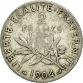 Coin, France, Semeuse, 2 Francs, 1904, Paris, VF(30-35), Silver, KM:845.1
