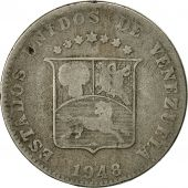 Monnaie, Venezuela, 12-1/2 Centimos, 1948, Philadelphie, TB, Copper-nickel