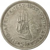 Coin, South Africa, George VI, 5 Shillings, 1952, AU(50-53), Silver, KM:41