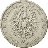 Coin, German States, PRUSSIA, Wilhelm I, 2 Mark, 1876, Hannover, VF(30-35)