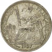 Coin, FRENCH INDO-CHINA, 10 Cents, 1937, Paris, AU(50-53), Silver, KM:16.2