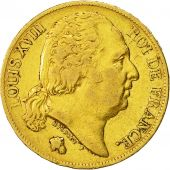 Coin, France, Louis XVIII, Louis XVIII, 20 Francs, 1820, Paris, EF(40-45), Gold