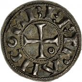 Coin, France, Languedoc, Bertrand, Denier, 1105-1112, Toulouse, MS(63), Silver