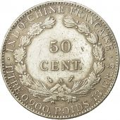 Monnaie, FRENCH INDO-CHINA, 50 Cents, 1896, Paris, TTB+, Argent, KM:4a.1