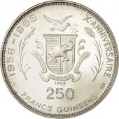 Coin, Guinea, 250 Francs, 1969, MS(63), Silver, KM 13