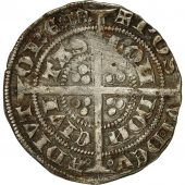 Monnaie, Angleterre, Edouard III, Demi-Gros, Londres, TB+, Argent, Spink 1574