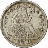Coin, United States, Seated Liberty Half Dime, 1840 O, MS(60-62), KM 62.1