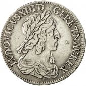 Coin, Louis XIII, 1/4 Écu, Draped and Cuirassed bust, 1642, Paris, KM 134.1