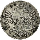 Monnaie, Russie, Anna, Rouble, 1740, Moscou, TB+, Argent, KM 203