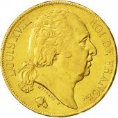 Coin, France, Louis XVIII, 20 Francs, 1819, Paris, AU(55-58), Gold, KM 712.1