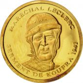 France, Medal, Marechal Leclerc, History, 2001, Or
