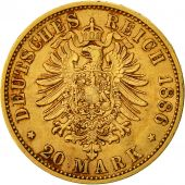 Coin, German States, PRUSSIA, Wilhelm I, 20 Mark, 1886, Berlin, AU(50-53), Gold
