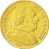 Coin, France, Louis XVIII, 20 Francs, 1815, Bayonne, AU(50-53), Gold, KM 706.4
