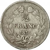 Coin, France, Louis-Philippe, 1/2 Franc, 1836, Paris, VF(30-35), Silver, Gad 408