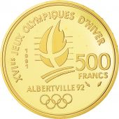 Coin, France, 500 Francs Olympics, 1991, Paris, MS(65-70), Gold, KM 1000