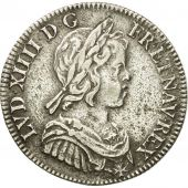Coin, France, Louis XIV, 1/4 Écu à la mèche courte, 1644, Paris, EF(40-45)