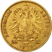 Coin, German States, PRUSSIA, Wilhelm I, 20 Mark, 1872, Berlin, AU(55-58), Gold