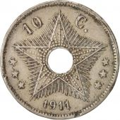 Congo belge, 10 Centimes, 1911, Heaton, Copper-nickel, KM:18