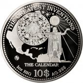 Îles Cook, The Calendar, 10 Dollars, 2014, Argent, KM:New