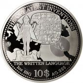 Îles Cook, Written Language, 10 Dollars, 2014, Argent, KM:New